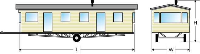 Diagram to show dimensions