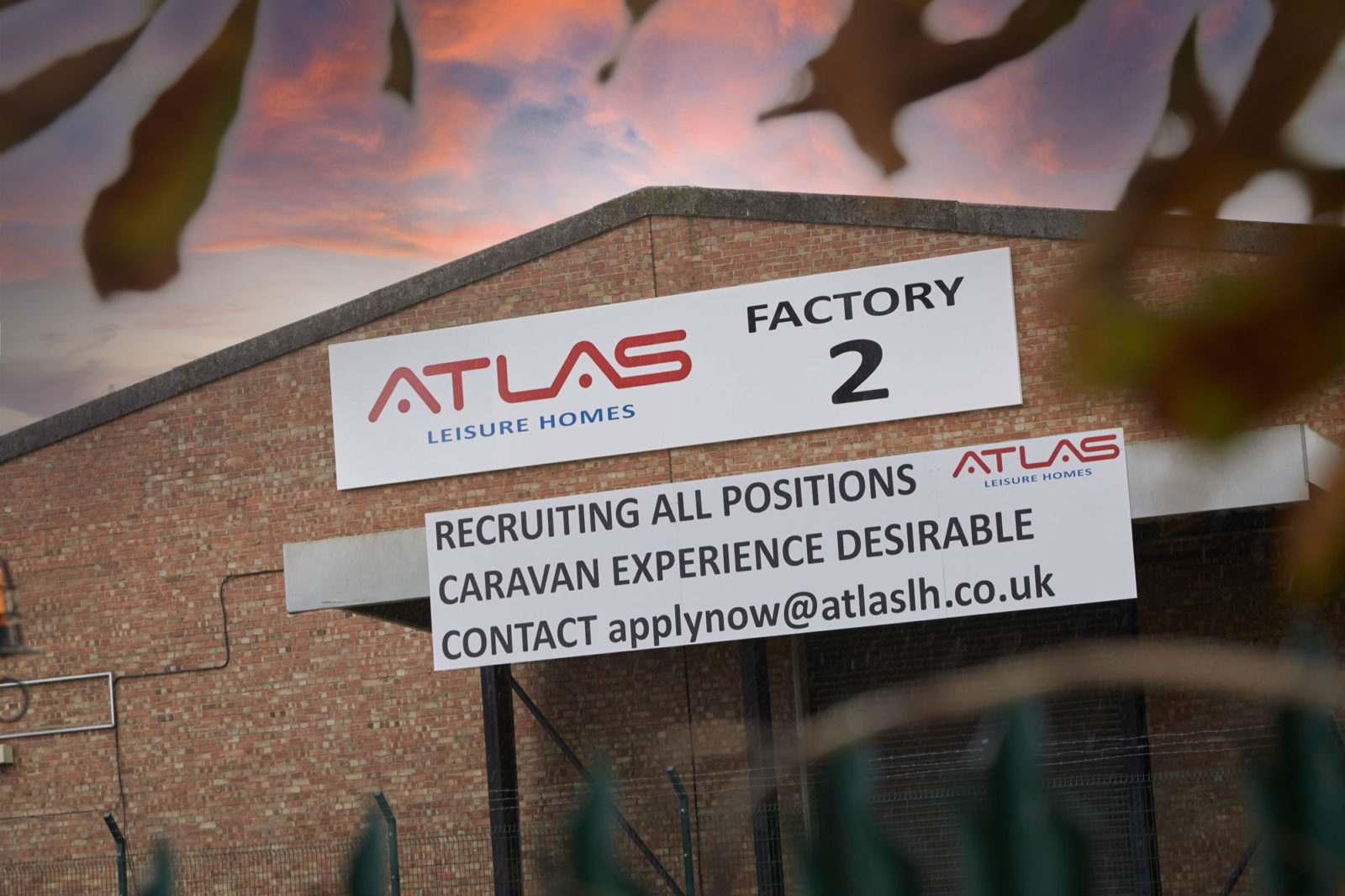 Atlas Lesiure Homes Sutton Fields Hull factory