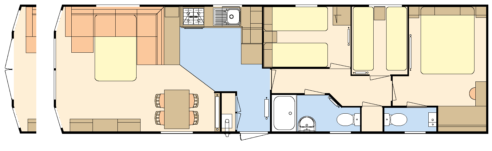 Chorus Atlas Leisure Homes Bed Sizes Diagram 40 12 3 Bedroom 8 Berth
