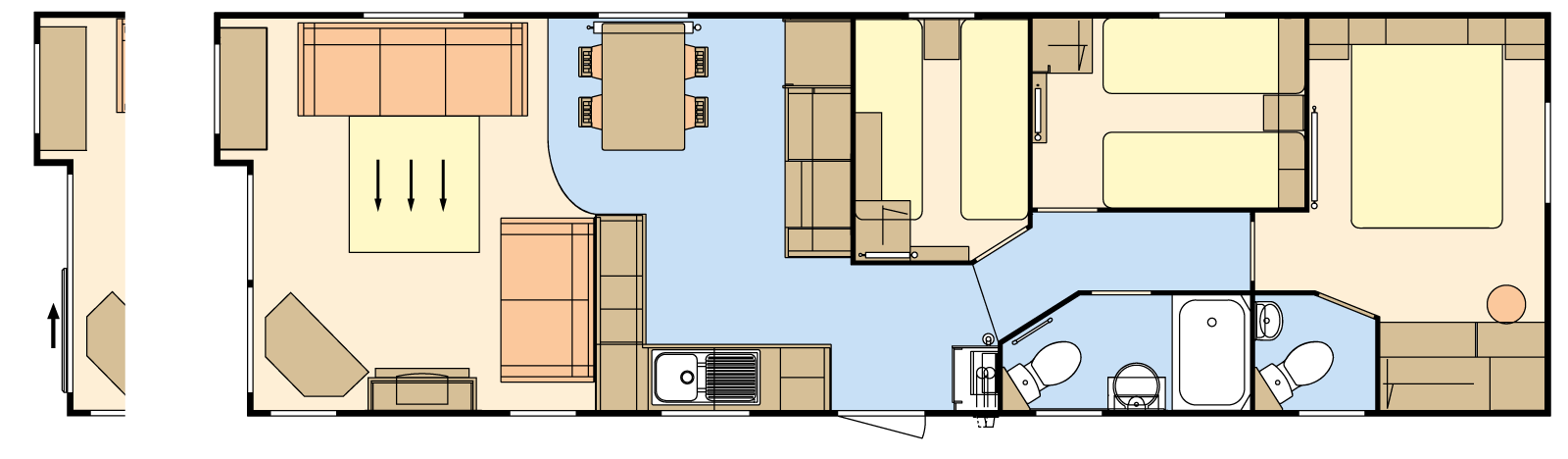 38 × 12 – 3 bedroom/8 berth