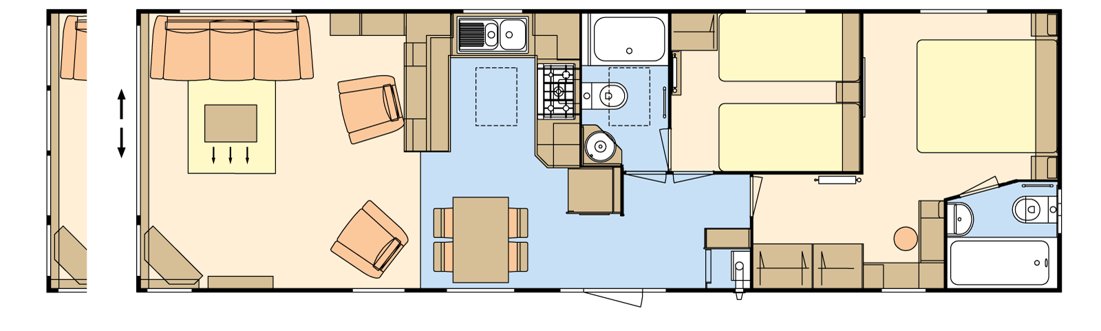 41 × 12-6 – 2 bedroom/6 berth