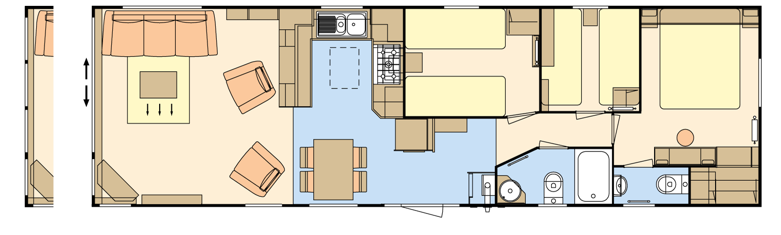 41 × 12-6 – 3 bedroom/8 berth
