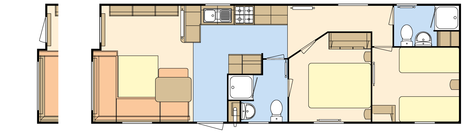 36 × 12 ES – 2 bedroom/6 berth