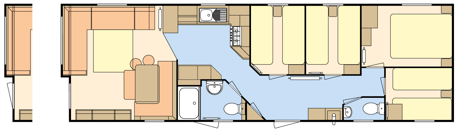 39 × 12 – 4 bedroom/8 berth