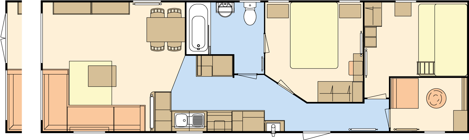 40 × 12 – 2 bedroom/6 berth