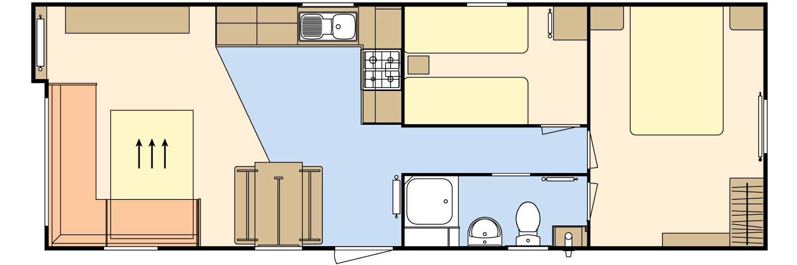 35 × 12 – 2 bedroom/6 berth