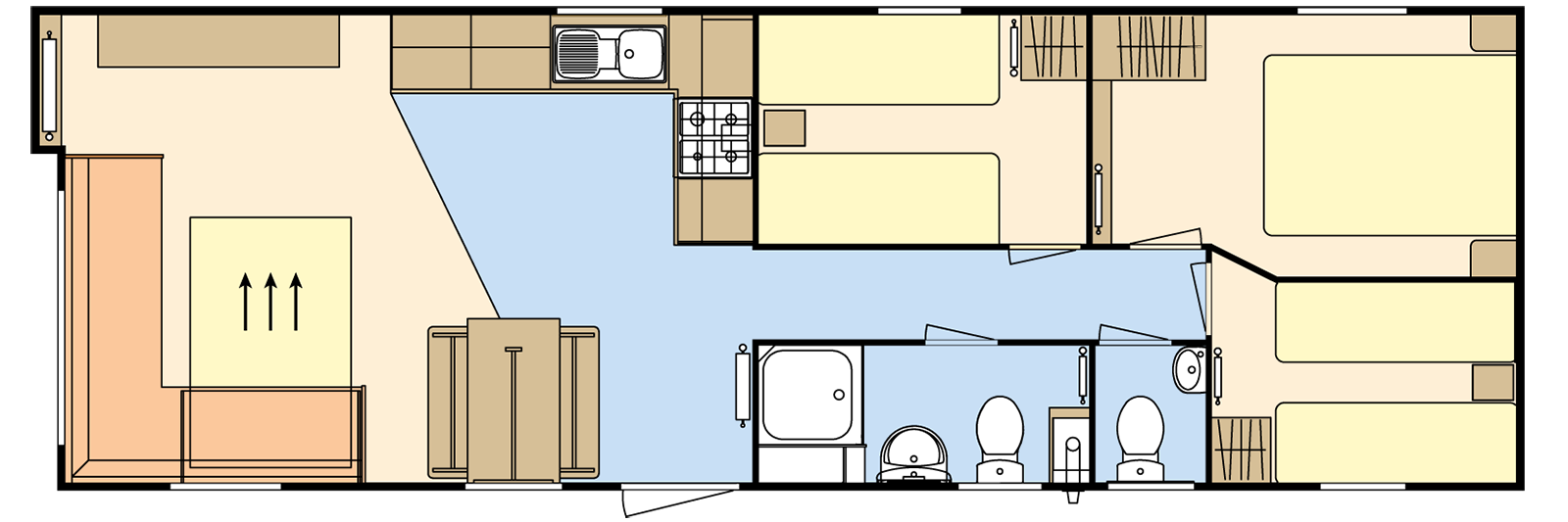 36 × 12 – 3 bedroom/8 berth