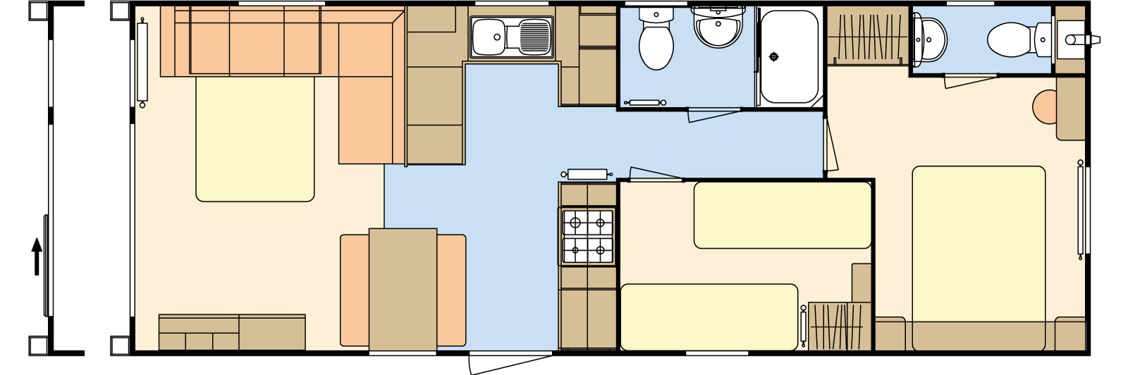 32 × 12 – 2 bedroom/6 berth
